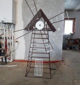 Сварная мельница в сад