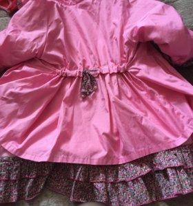 Плащ-пальто на синтепоне для девочки