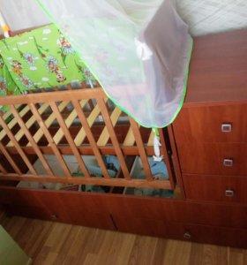 Кроватка - трансформер.