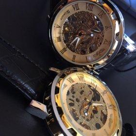 Часы мужские WINNER Skeleton Gold