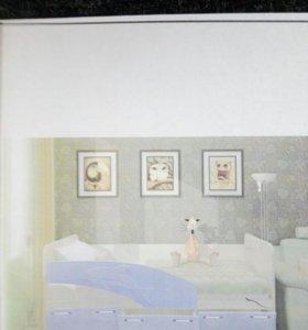 Кровать подростковая. МДФ,, Дельфин,, с матрасом
