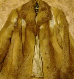 полушубок из лисы
