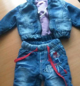 Костюм джинсовый на девочку