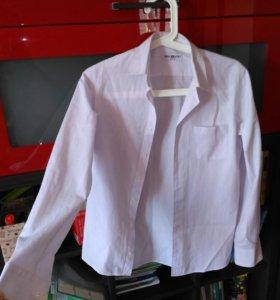 Рубашка на мальчика нежно фиолетовая
