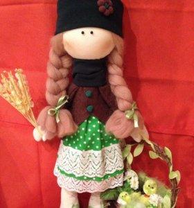 Пасхальная девочка( текстильная кукла)