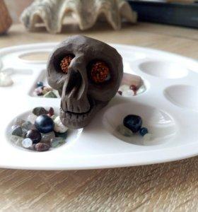 череп керамический для суккулентов