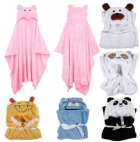 Детский халат-полотенце