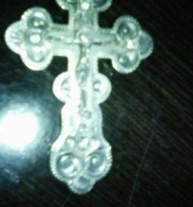 Серебрянная цепь с крестом