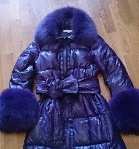 Пуховик-пальто 44-46 размер