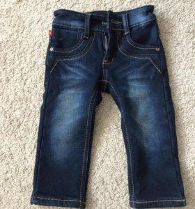 Новые джинсы 86 размера с начесом