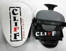 Лапа боксерская кожа черно-белая Fight spirit ULI-