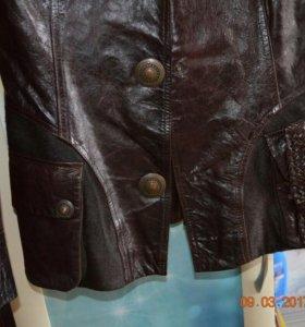 куртка из натуральной кожи и мех пони