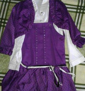 Платье, (сарафан), рубашка, болеро