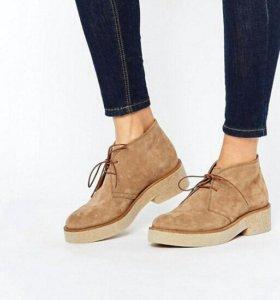 Замшевые новые ботинки (женские)