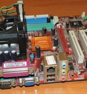 Комплект M/B+CPU+кулер Socket478