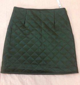 Новая юбка Asos кожаная бордовая