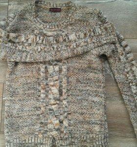 Вязаный акриловый свитер