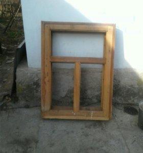 Оконные деревянные блоки двойные