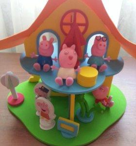 Конструктор-домик Свинки Пеппы из мягкого материал