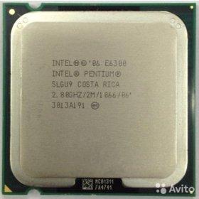 Процессор intel pentium dual core e6300 2.8 ghz