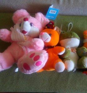 Мягкие игрушки новые с этикетками