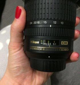 Объектив Nikon AF-S Nikkor 10-24mm
