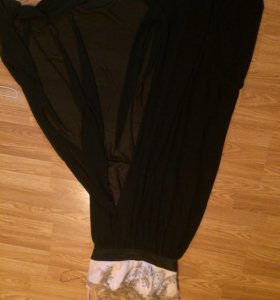 Платье длинное в пол, с разрезом