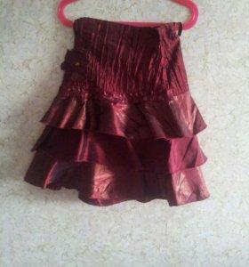 Блузка с юбкой костюм 7-8