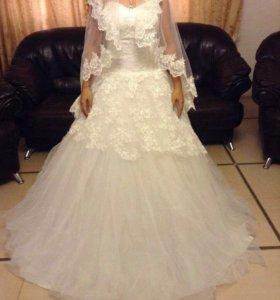 Свадебное платье(ручная работа)