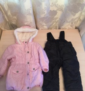 Комбинезон( куртка+брюки) и шапка