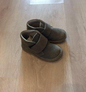 Модные ботинки на весну из замши