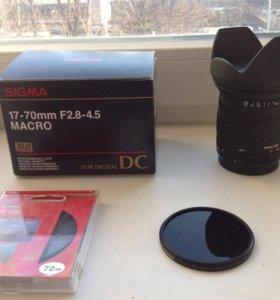 Sigma 17-70mm F2.8 для Canon