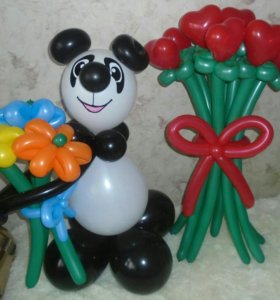 Фигуры и букеты из шаров.Гелиевые шарв.