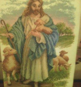 Иисус с барашками.