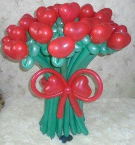 букет цветов. оформление шарами