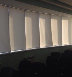 Рулонные и кассетные шторы от солнца.