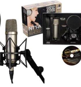 Студийный конденсаторный микрофон RODE NT1-A +