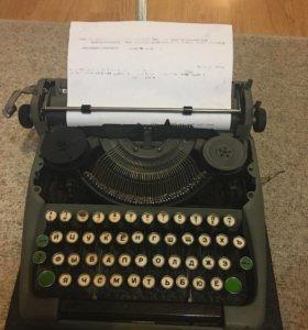 Портативная пишущая машинка 57г.