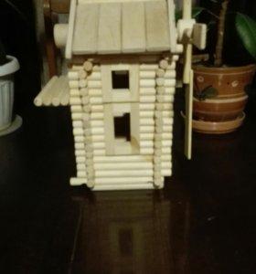 Деревянный  конструктор «мельница»