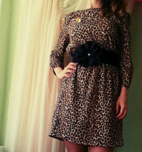 Леопардовое платье