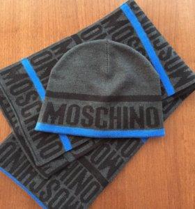 Шапка, шарф. Набор Moschino . На 2-3 года.