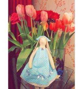 Текстильная игрушка Тильда зайка