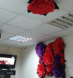 Оформление большими цветами