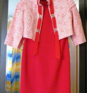 Платье и жакет р.48