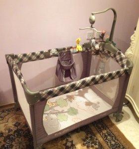 Кровать -манеж baby care