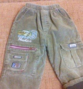 Утепленные брюки на мальчика, рост 92-96 см