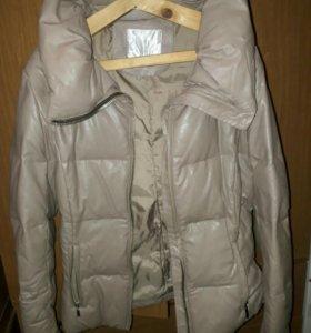 Куртка зимняя экокожа