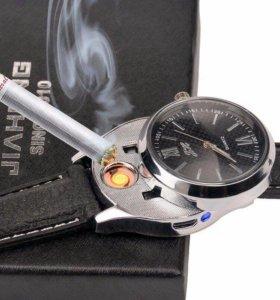 Стильные часы с встроенной зажигалкой