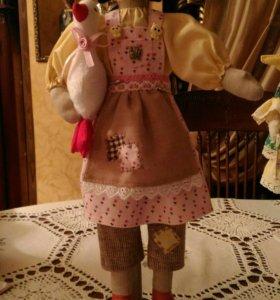 Кукла Тильда-птичница