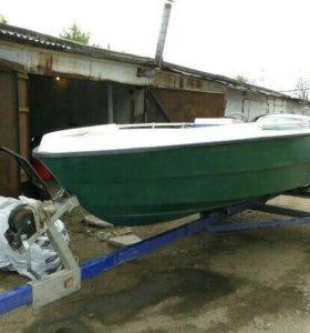 Лодка Финская Wiikari 450R + прицеп